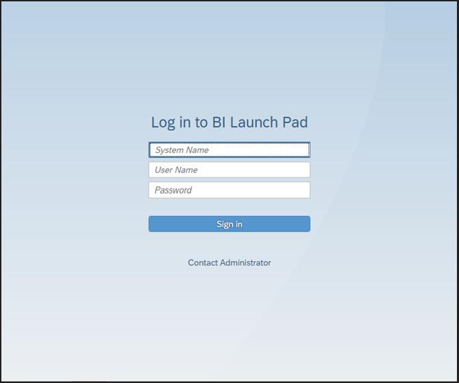 BI Launchpad