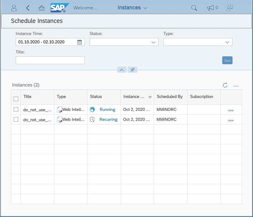 SAP Businessobjects BI Launchpad
